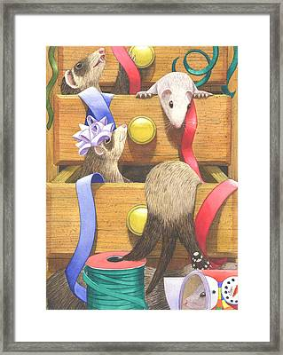 The Drawers Framed Print by Catherine G McElroy
