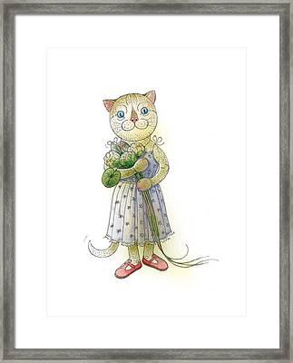 The Dream Cat 01 Framed Print by Kestutis Kasparavicius
