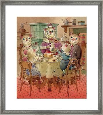 The Dream Cat 08 Framed Print by Kestutis Kasparavicius