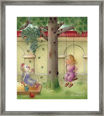 The Dream Cat 14 Framed Print by Kestutis Kasparavicius