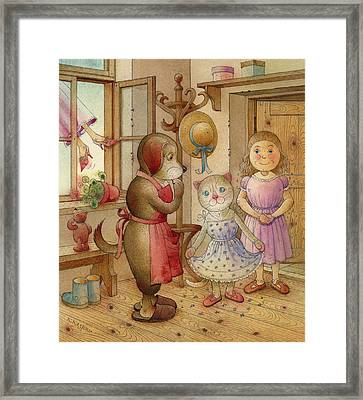 The Dream Cat 19 Framed Print by Kestutis Kasparavicius