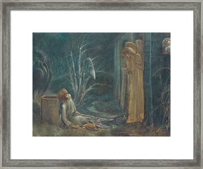The Dream Of Lancelot Framed Print by Sir Edward Burne-Jones