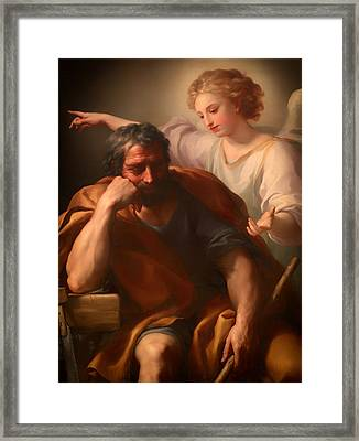 The Dream Of St Joseph Framed Print by Mountain Dreams