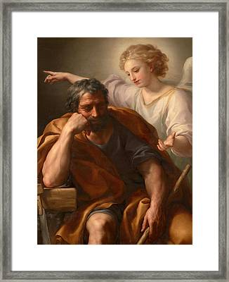 The Dream Of St Joseph Framed Print by Anton Raphael Mengs