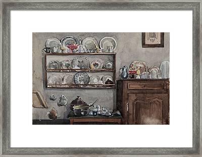 The Dresser  Framed Print by Henri Duhem