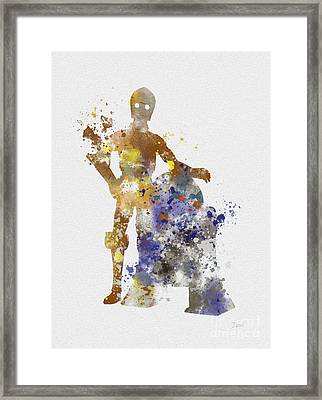 The Droids Framed Print by Rebecca Jenkins