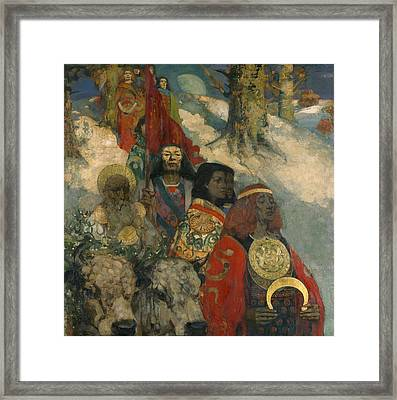 The Druids - Bringing In The Mistletoe Framed Print by George and Hornel, Edward A. Henry