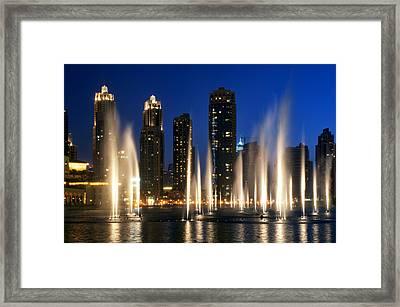 The Dubai Fountains Framed Print by Fabrizio Troiani