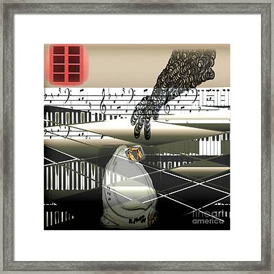 The Duchamp Intervention Framed Print by Kim Peto