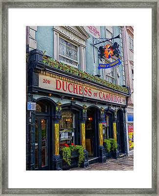 The Duchess Of Cambridge Pub - Windsor England Framed Print by Mountain Dreams