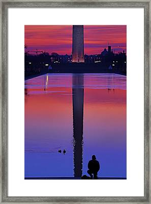 The Ducks Vs The Photographer Framed Print by Metro DC Photography