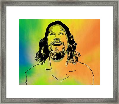 The Dude Pop Art Framed Print by Dan Sproul