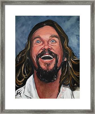 The Dude Framed Print by Tom Carlton