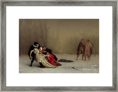 The Duel After The Masquerade Framed Print by Jean Leon Gerome