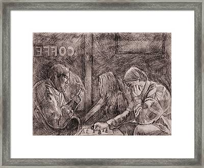 The Duel I Framed Print by Dave Kobrenski