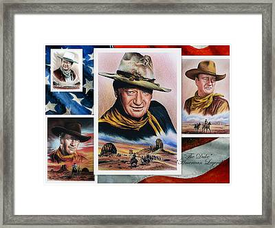 The Duke American Legend Framed Print by Andrew Read