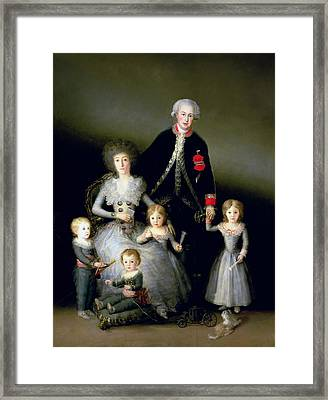 The Duke Of Osuna And His Family, 1788 Oil On Canvas Framed Print by Francisco Jose de Goya y Lucientes