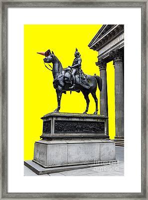The Duke Of Wellington Yellow Framed Print by John Farnan