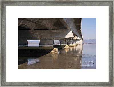 The Dumbarton Bridge In The South Bay Area California Dsc2454 Framed Print by Wingsdomain Art and Photography