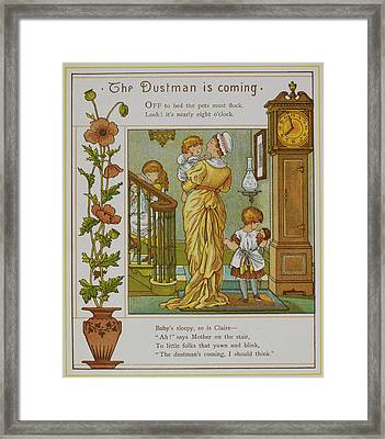 The Dustman Is Coming Framed Print by British Library