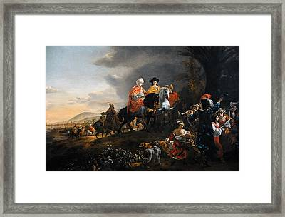 The Dutch Ambassador On His Way To Isfahan, C. 1653-1659, By Jan Baptist Weenix 1621-c.1659 Framed Print by Bridgeman Images