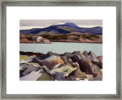 The East Bay  Iona Framed Print by Francis Campbell Boileau Cadell