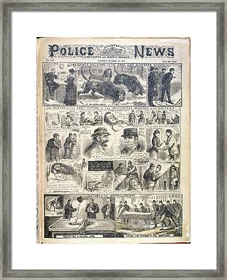 The East End Murders Framed Print by British Library