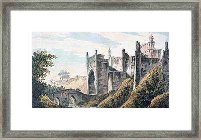 The East End Of The Fort Of Mongheer Framed Print by William Hodges