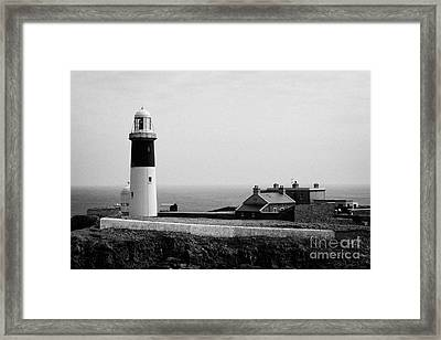 The East Light Lighthouse And Buildings Altacarry Altacorry Head Rathlin Island  Framed Print by Joe Fox