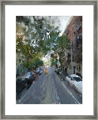 The East Side Framed Print by Russell Pierce