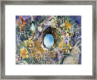 The Easter Bunny Framed Print by Mindy Newman