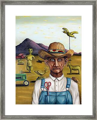 The Eccentric Farmer Edit 5 Framed Print by Leah Saulnier The Painting Maniac