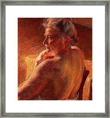 The Effect Of Sunlight Framed Print by Umberto Boccioni