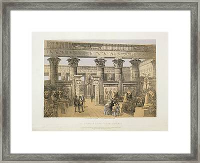 The Egyptian Court Framed Print by British Library