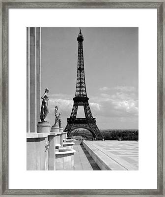 The Eiffel Tower Framed Print by Underwood Archives
