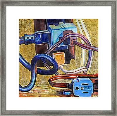 The Electronic Age Framed Print by JAXINE Cummins