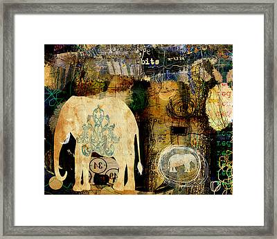 The Elephant In The Room Framed Print by Sarah Kiser