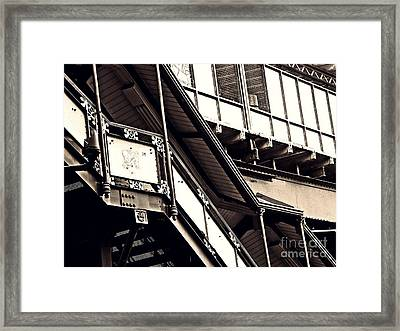 The Elevated Station At 125th Street 2 Framed Print by Sarah Loft