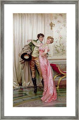 The Embrace Framed Print by Joseph Frederick Charles Soulacroix