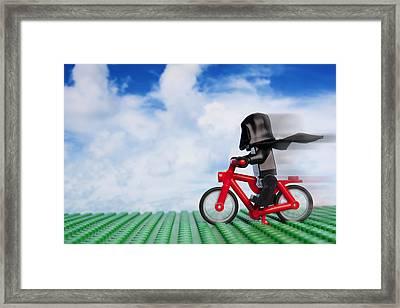 The Emperor's New Bike Framed Print by Samuel Whitton
