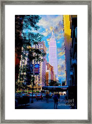 The Empire State Building Framed Print by Jon Neidert