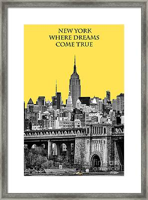 The Empire State Building Pantone Yellow Framed Print by John Farnan