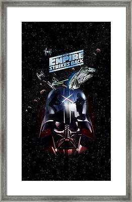 The Empire Strikes Back Phone Case Framed Print by Edward Draganski