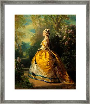 The Empress Eugenie Framed Print by Franz Xaver Winterhalter
