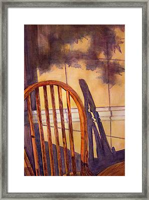 The Empty Chair Framed Print by Janet Felts
