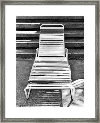 The Empty Chaise Palm Springs Framed Print by William Dey