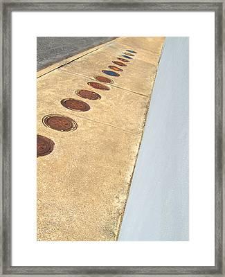 The Empty Sidewalk Framed Print by Ross Odom