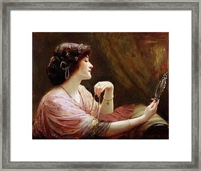 The Enamelled Chain, 1911 Framed Print by Frank Markham Skipworth