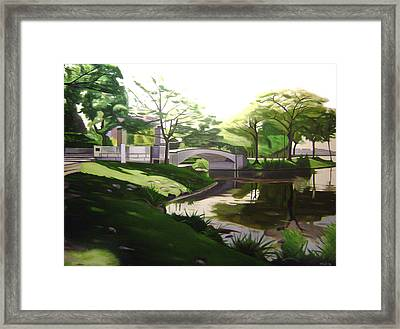 The Enchanted River Bridge 2 Framed Print by JJ Long