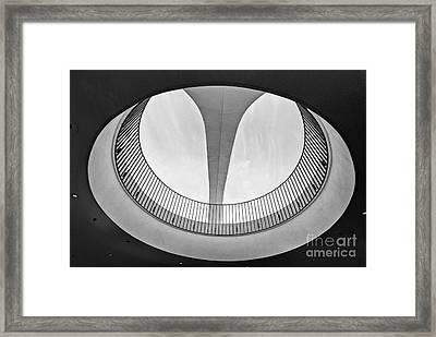 The Encounter Restaurant At Lax From Below Los Angeles International Airport. Framed Print by Jamie Pham